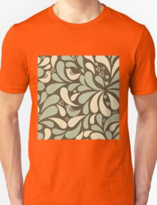 Retro,70's,pattern,vintage,rustic,teal,mint,brown,yellow,grunge Unisex T-Shirt
