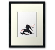 Samurai III Silhouette Framed Print