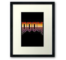 80's Cyber Grid Doom Emblem Framed Print