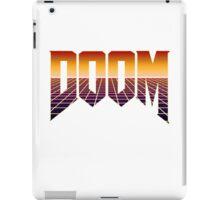 80's Cyber Grid Doom Emblem iPad Case/Skin