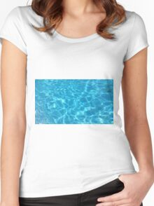Pool Water - Cyan Women's Fitted Scoop T-Shirt