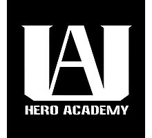 U.A. Hero Academy logo - (My Hero Academia, Boku no Hero Academia, BNHA) Photographic Print