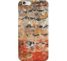 Abstract in orange, black, and white iPhone Case/Skin