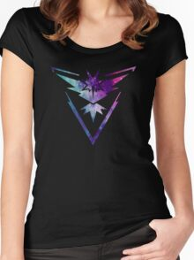 TEAM INSTINCT - COLORFUL GALAXY Women's Fitted Scoop T-Shirt