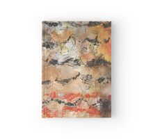 Abstract in orange, black, and white Hardcover Journal