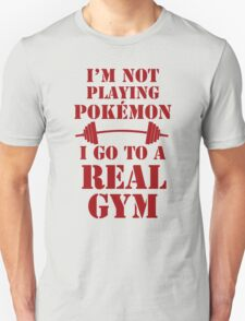 I'm not playing Pokémon - Red Unisex T-Shirt