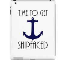 Time To Get Shipfaced Cruise Design iPad Case/Skin
