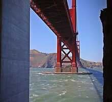 A different view of the Golden Gate Bridge by Tracy LeMaster