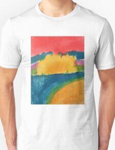 Beach sunset, 2016, watercolor on canvas Unisex T-Shirt