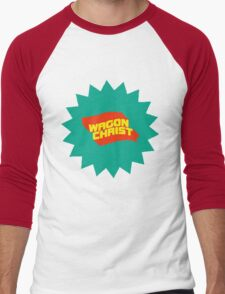 Wagon Christ - Tally Ho splat art Men's Baseball ¾ T-Shirt