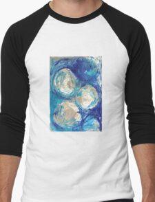 Blue swirl Men's Baseball ¾ T-Shirt