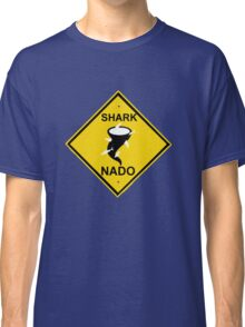 caution-sharknado Classic T-Shirt