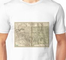 Vintage Map of Arizona and New Mexico (1899) Unisex T-Shirt