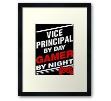 Gamer Principal By Night Framed Print