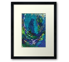 Something in the wave Framed Print