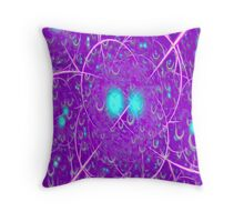 Purple Drops Throw Pillow