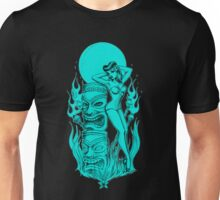 Tiki blue moon Unisex T-Shirt
