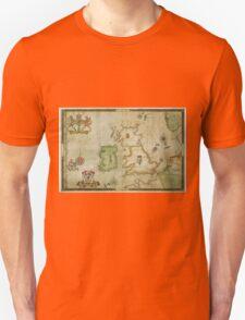Vintage Map of The British Isles (1590) Unisex T-Shirt