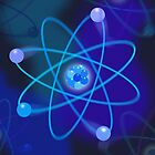 Blue Atomic Structure by theimagezone