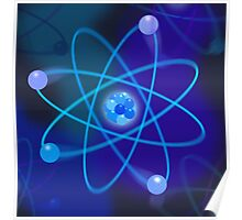 Blue Atomic Structure Poster