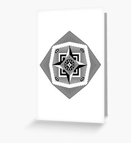 Compass Rose Pattern Greeting Card