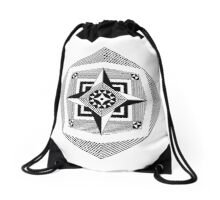 Compass Rose Pattern Drawstring Bag