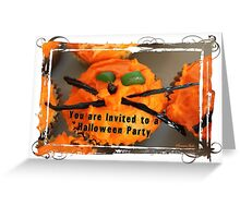 Zany Cat Halloween Party Invitation Greeting Card