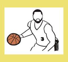 Dwyane Wade Dribbling a Basketball One Piece - Short Sleeve