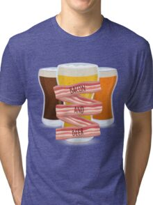 Bacon and Beer Tri-blend T-Shirt