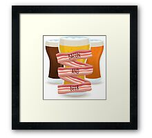 Bacon and Beer Framed Print