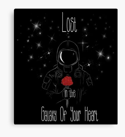 Lost in the galaxy of your heart Canvas Print