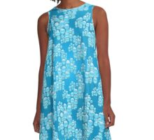 Water drops illustration pattern  A-Line Dress