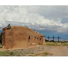 Primitive New Mexico Church Photographic Print
