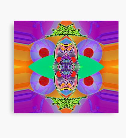 Peter Max and the Day-Glo Dream - Upside Down Art by Upside Down artist L. R. Emerson II  Canvas Print