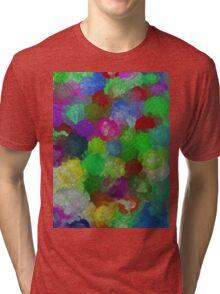 bubble flowers Tri-blend T-Shirt