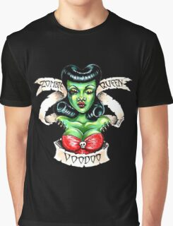 Zombie Voodoo Queen Graphic T-Shirt