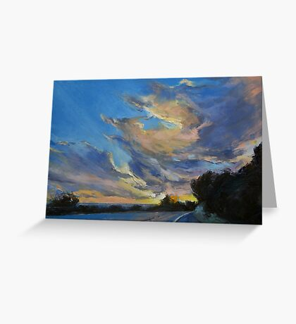 The Road to Sunset Beach Greeting Card