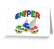 Mario Kart Shell Sniper Greeting Card