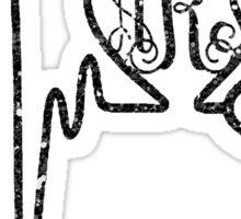 aRt Monogram Stethoscope Sticker
