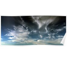 Wispy Horsetail Clouds Floating High Poster