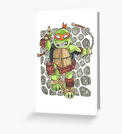 Michelangelo - Chibi Greeting Card