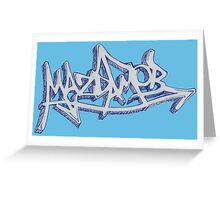 Graffiti Mazda Mob Blue Greeting Card
