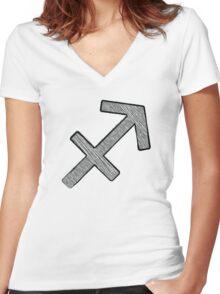 Sagittarius Women's Fitted V-Neck T-Shirt