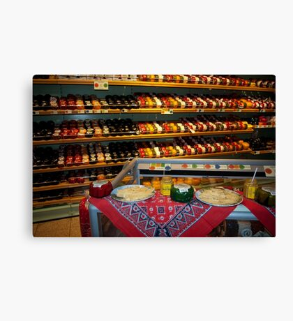 Cheese, cheese and... cheese Canvas Print