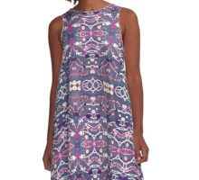 Abstract Decorative Pattern A-Line Dress