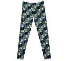 Futuristic Patterned Circles Design Leggings
