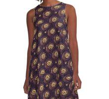 Circles Colorful Pattern A-Line Dress