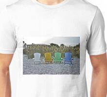 Beach Chairs on The Sand Unisex T-Shirt