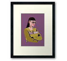 Feminist (Purple) Framed Print