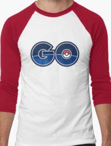 Pokemon GO letters Men's Baseball ¾ T-Shirt